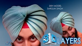 tact of month march 2017 3D Layers in Patiala Shahi Pagg | Turban