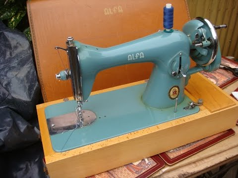 Old Vintage Antique Hand Crank  ALFA  Sewing Machine    See Video Below