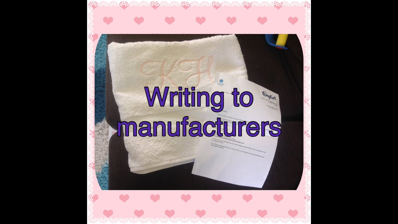 Coupons Galore UK Writing to manufacturers