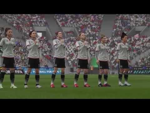 FIFA 16 DEMO Full Women's Match. USA Vs Germany (Rain)