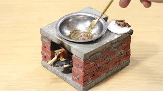 amazing Miniature Brick Stove - - - Learn Bricklaying