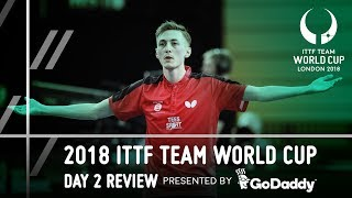 2018 ITTF Team World Cup | GoDaddy Day 2 Review