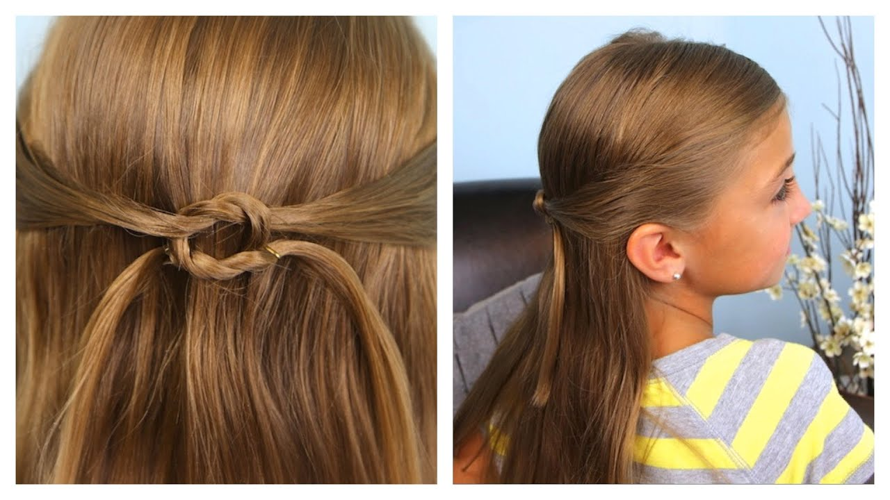 pullbacks into square knot   daddy 'do hairstyles   cute girls hairstyles