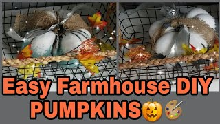 Easy DIY Farmhouse PUMPKINS 🎃|Chalk Paint