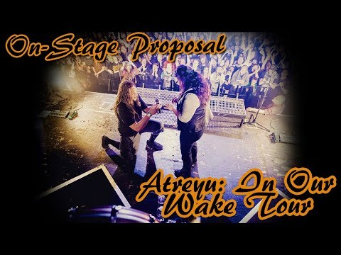 On - stage engagement during Atreyu: In Our Wake Tour!!