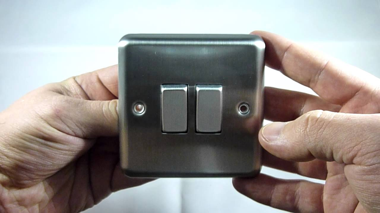 Varilight 2 Gang 1 X Int Or Way 10a Rocker Matt Chrome Switch Fitting Dec Xs71d Youtube