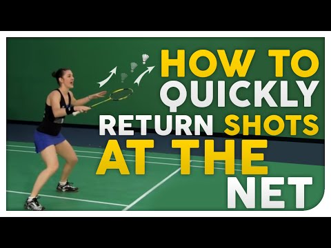 How to QUICKLY Return Shots at the Net - Badminton Secrets