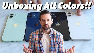 iPhone 12 UNBOXING!! (What is THE BEST iPhone 12 COLOR??)