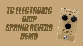 TC Electronic - Drip Spring Reverb - Demo