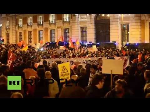 """Spain: THOUSANDS take to streets in """"day of dignity"""" protest"""