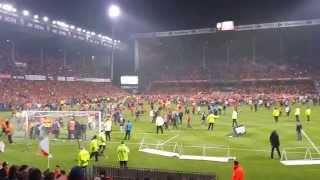 Émeute match foot Lens vs Brest stade bollaert