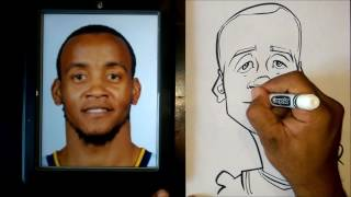 How To Draw A Quick Caricature Monta Ellis