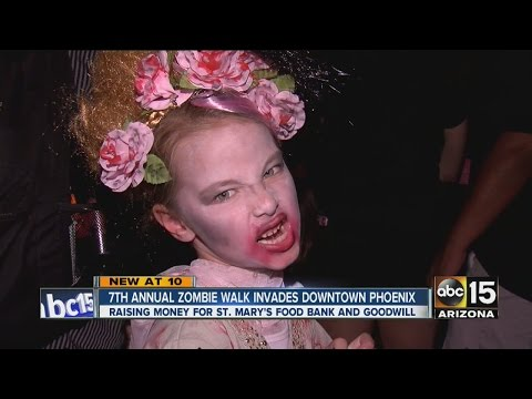 Zombies take over downtown Phoenix streets