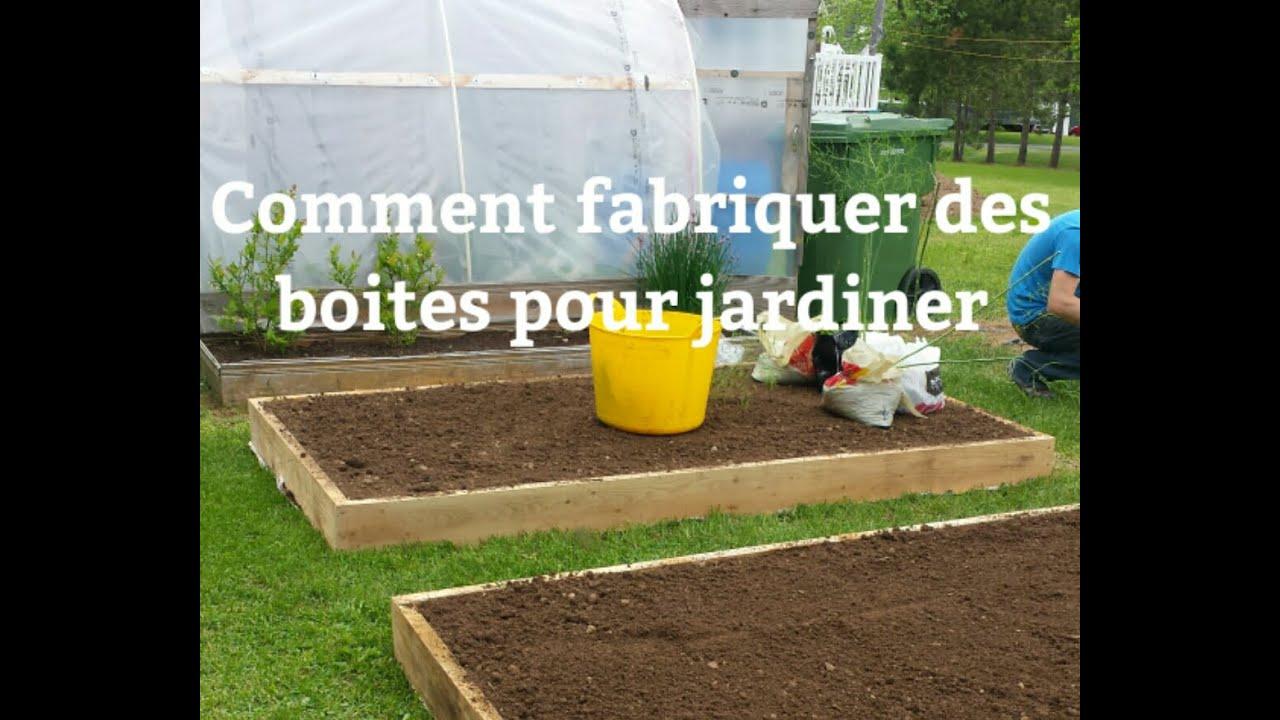 Comment fabriquer des boites pour jardiner - YouTube