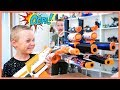 NERF SNEAK ATTACK GONE WRONG | My sneaky brother BROKE my GIANT NERF gun!