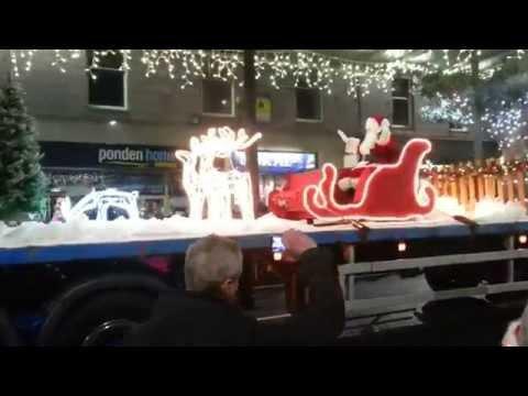 Christmas lights on Union street Aberdeen 2015