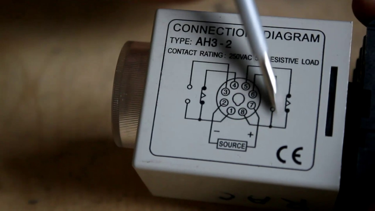 Timer Connection Diagram Youtube 6 Wire Single Phase Motor Wiring