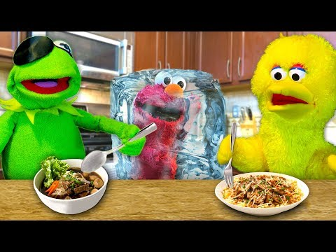 Kermit's Kitchen: COOK OFF EDITION! Kermit the Frog VS Big Bird (ft. Frozen Elmo)