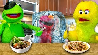 One of Are U Super Cereal's most viewed videos: Kermit's Kitchen: COOK OFF EDITION! Kermit the Frog VS Big Bird (ft. Frozen Elmo)