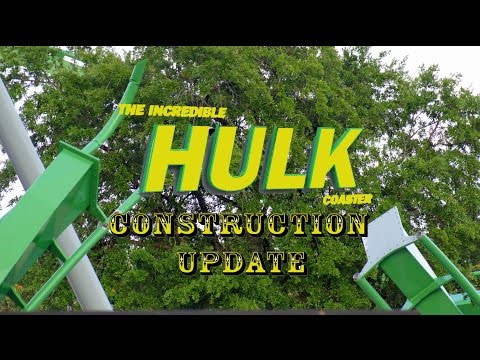 Universal Orlando Resort Incredible Hulk Construction Update 6.27.16 A Few Finishing Touches