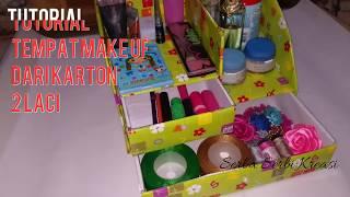Cara membuat tempat make up dari kardus bekas- 2 laci # DIY Kreasi
