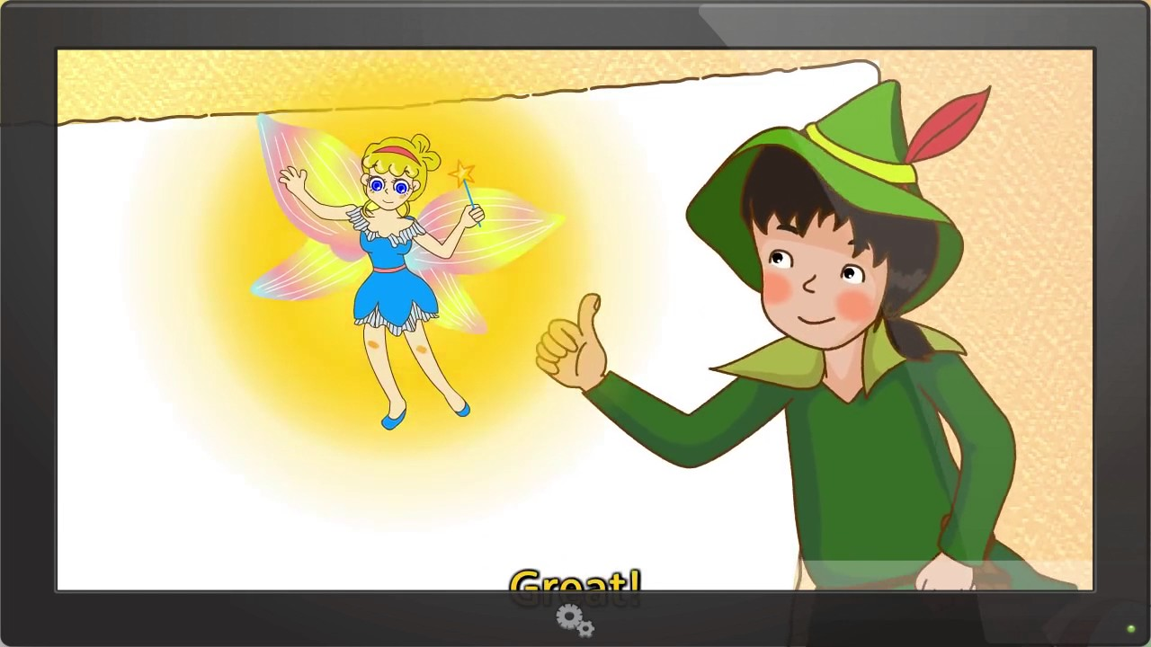 Peter Pan - Do you have crayons? (Colors) - English animated story ...