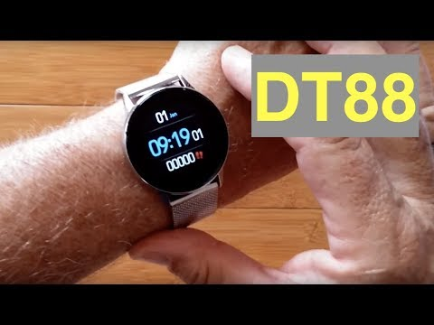DTNo.1 DT88 IP68 Waterproof Sports/Business/Dress Health Smartwatch: Unboxing And 1st Look