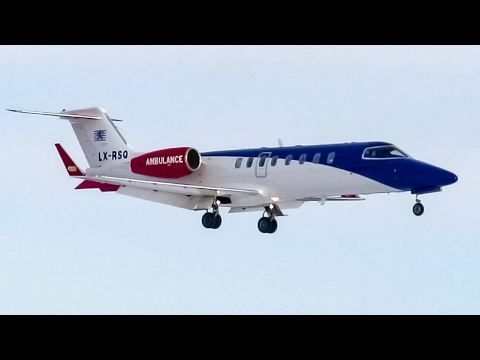 Luxembourg Air Rescue Learjet 45 (LJ45) landing in Montreal (YUL/CYUL)