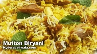 Dum Ki Mutton Biryani with Kachhi Aqni Recipe Video – How to make Hyderabadi Dum Ki Biryani