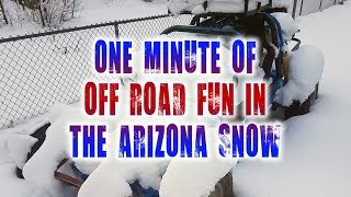 One Minute of Off Road Buggy Fun in the Crazy Arizona Snow 2019