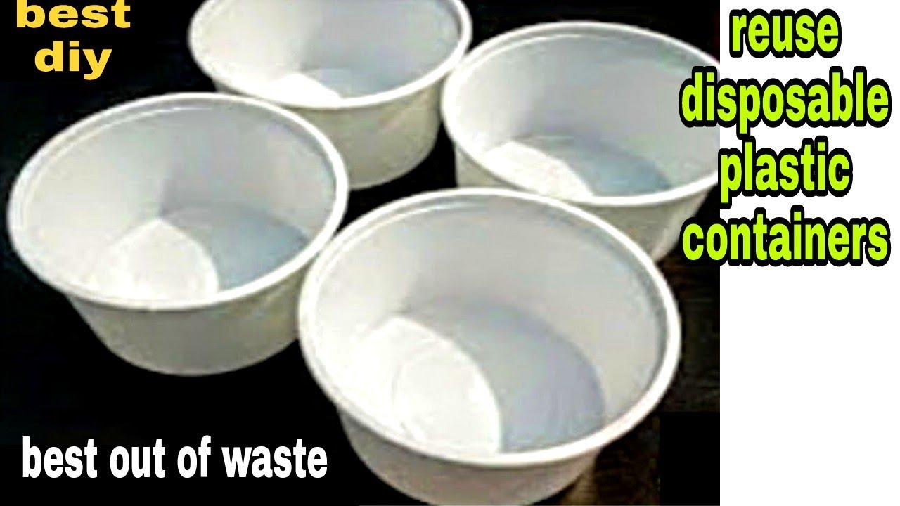 Best way to reuse/recycle Disposable food container|Best out of waste