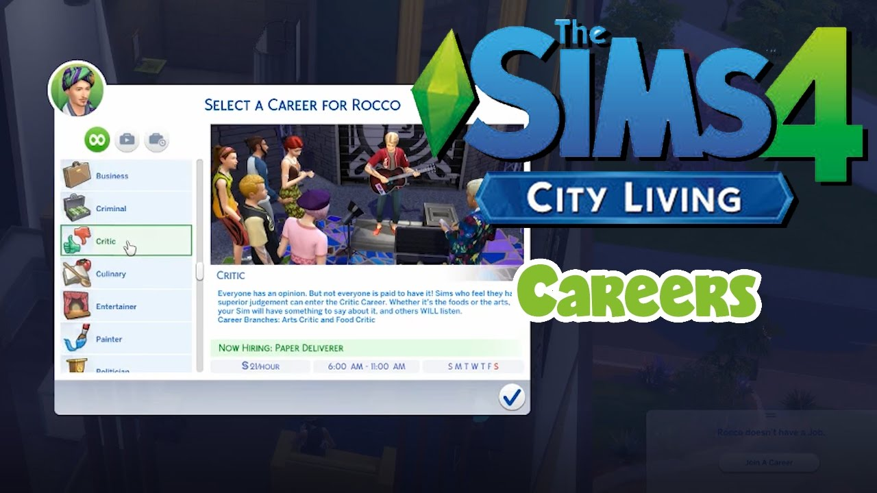the sims city living careers early access the sims 4 city living careers early access