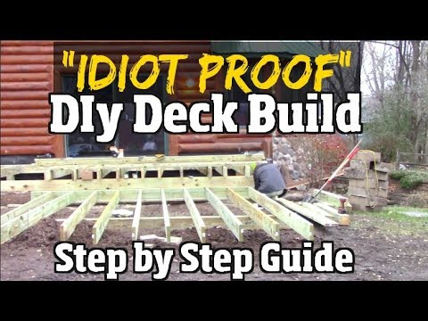 """Idiot Proof"" Do it Yourself Deck Build -  Step by Step Guide to Composite decks pt1"