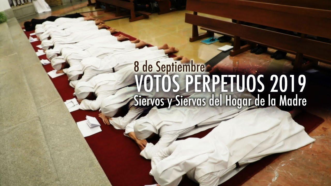 Votos Perpetuos De Siervos Y Siervas Del Hogar De La Madre 8 De