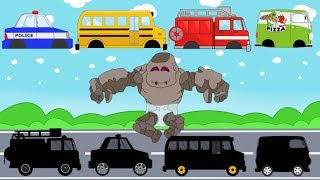 Learn Colors with Street Vehicles | Surprise - Baby Stone and Cars pretending to play for Kids