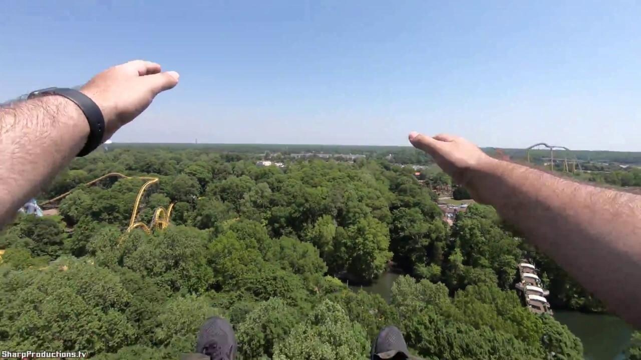 Mach Tower (4K On-Ride) Busch Gardens Williamsburg
