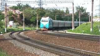 ЭП1М-387 с поездом Москва — Нальчик