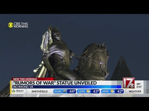 Not Far From Confederate Monuments, Richmond Gets A New Soaring Statue — This One With Dreadlocks