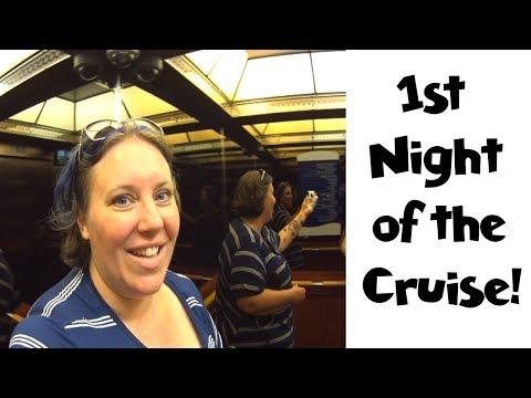 1st Night Dinner & Evening Entertainment • NYC Land & Sea Cruise Vlogs Day 8 [ep18] Norwegian Gem