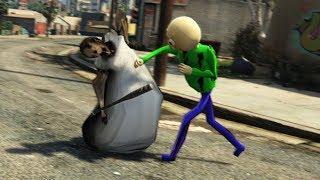 BALDI SE ENCUENTRA CON GRANNY EN LA CIUDAD !! (GTA 5 Mods)