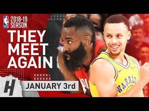 James Harden DESTROYS Golden State & Stephen Curry 2019.01.03 | EPIC Duel Highlights
