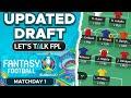 MY UPDATED DRAFT TEAM | Euro 2020 Fantasy Tips