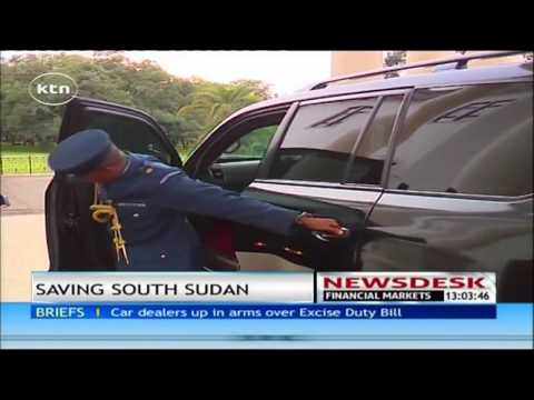 South Sudan's president Salva Kiir meet president Uhuru Kenyatta over crisis in his country