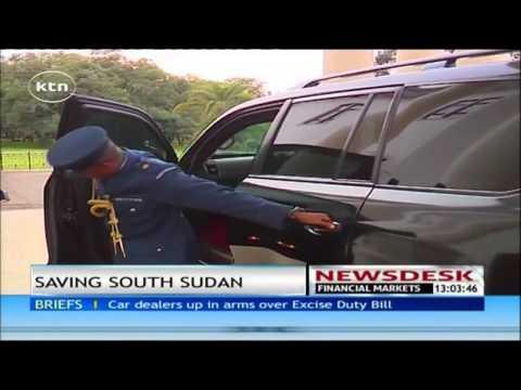 South Sudan's president Salva Kiir meet president Uhuru Kenyatta over crisis in his country