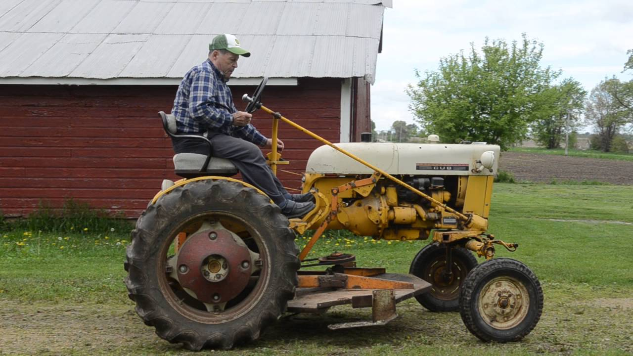 small resolution of international cub with woods mower