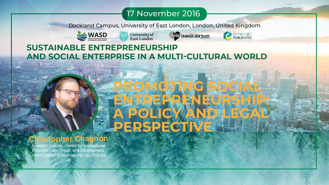 Promoting social entrepreneurship: A policy and legal perspective