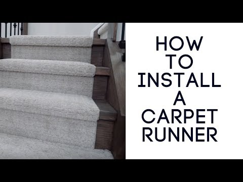 Put a carpet runner over carpeted stairs