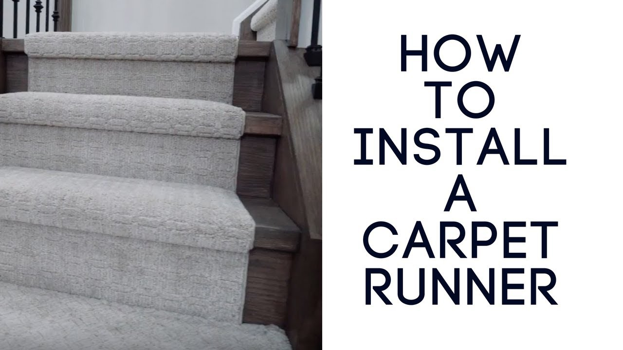 Installing A Carpet Runner On Stairs The Right Way Youtube   Carpet In Middle Of Stairs   Exposed Tread   Hardwood   Wood   Victorian   Popular
