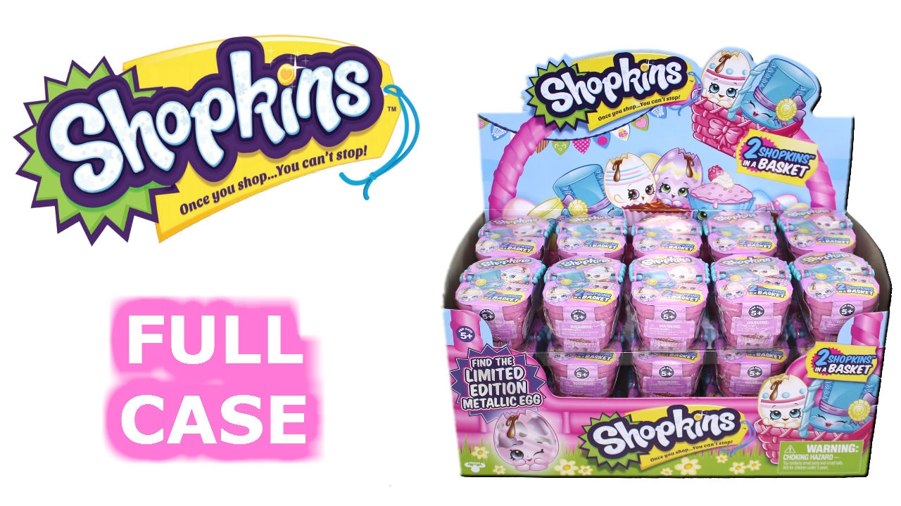 Shopkins Easter Blind Baskets Case Unboxing Toy Review Blind Box