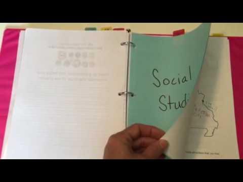 Missouri Homeschool Portfolio example